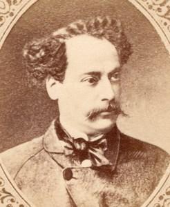 Writer Alexandre Dumas Fils France old CDV Figaro 1875