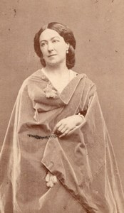 French Actress Anais Fargeuil old Carjat CDV Photo 1870