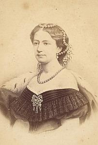 Danish Queen Louise de Hesse Cassel old CDV Photo 1870