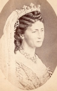 German Empress Princess Victoria old CDV Photo 1870