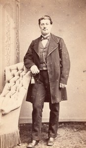 Fashion Second Empire Man France Old CDV Photo 1865