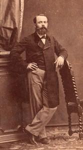 Fashion Second Empire Man France Old CDV Photo 1865