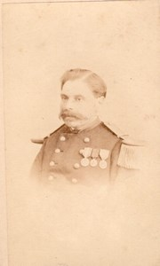 Military Second Empire Man Medals France CDV Photo 1871