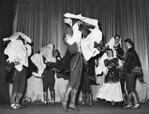 Beograd Folk Dance Ballet Paris Bernand Photo 1955