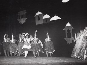 Indian Dance Ballet Theater Paris Bernand Photo 1955
