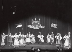 Poland Folk Dance Ballet Paris Bernand Photo 1955