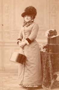Opera Singer Celine Chaumont France Old CC Photo 1880