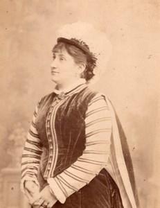Opera Singer Royard France Old Cabinet Card Photo CC 1880