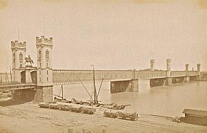 Rhine Iron Bridge Koln Germany Old Frith's Photo 1880