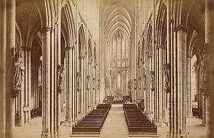 Cathedral Interior Koln Germany Old Frith's Photo 1880