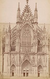 Cathedral Facade Koln Germany Old Frith's Photo 1880