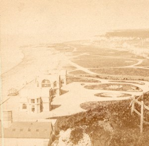 Beach & Bath Dieppe Old Valecke Stereoview 1865