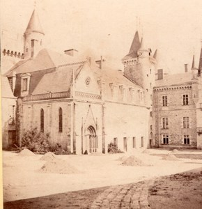 Château de Bourbon Busset Vichy Couton Stereoview 1865