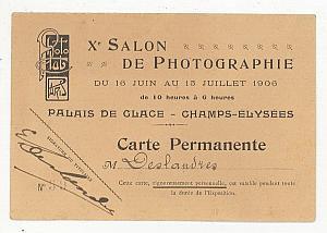 Xer Salon de Photographie Paris Carte Permanente 1906