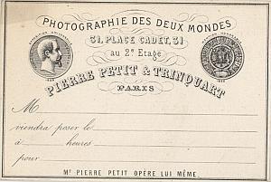 Photographic Studio Petit & Trinquart Publicity 1859