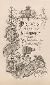 Photographic Studio Provost Toulouse Publicity 1870