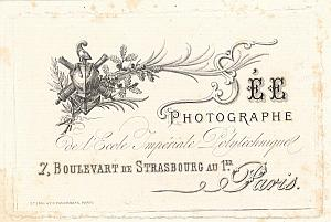 Photographic Studio SEE Paris Publicity Card 1860