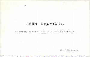 Photography Pioneer Leon Cremiere Porcelaine Card 1862