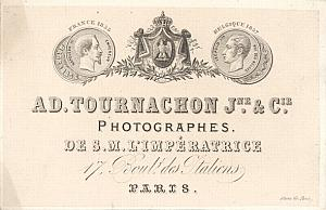 Photography Pioneer Studio Tournachon Jeune Card 1857