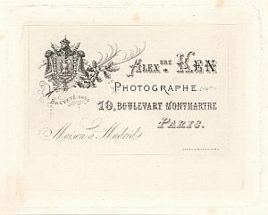 Photographic Studio Alexandre KEN Card Stern Paris 1864