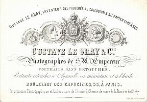 Photograph Pioneer Gustave Le Gray Porcelaine Card 1858