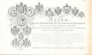 Photographic Studio Pioneer Mayer Porcelaine Card 1855