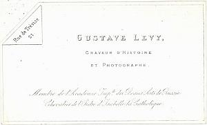 Photographic Studio Pioneer Levy Porcelaine Card 1860
