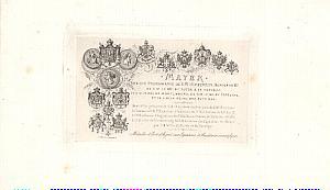 Photographic Studio Pioneer Mayer Paris Visit card 1855