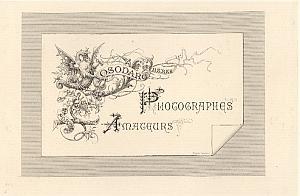 Photographes Amateurs Osodarc Freres Paris Card 1860