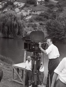 JP Melville Studio Film Photo at Work Paris France 1960