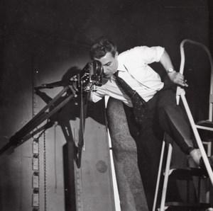 Filmmaker Acrobat Studio Rossignol Photo Paris 1960