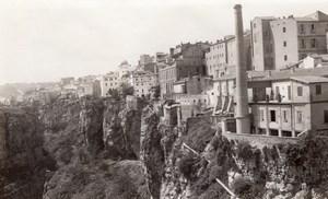 Panorama Constantine Cliff City Algeria old Photo 1925