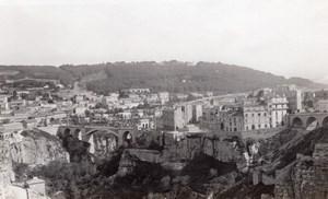 Panorama Constantine Bridge City Algeria old Photo 1925