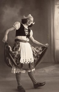 Dance Woman Becassine Fashion Arcachon old Photo 1930