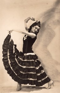Spanish Dance Woman Arcachon France old Photo 1930