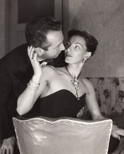 Jewelry Model Fashion Seduction France old Photo 1960