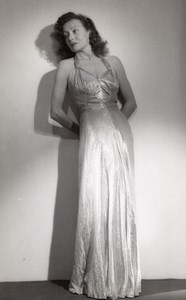 Woman Model Long Dress Fashion France old Photo 1935