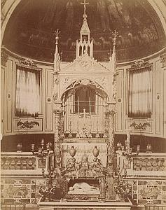 San Cecilia Church  Roma Italy old Alinari Photo 1890
