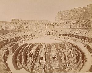 Colisee Interior Roma Italy old Alinari Photo 1890