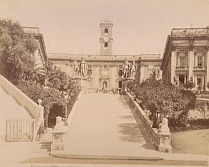 Campidoglio Stairs Roma Italy old Alinari Photo 1890