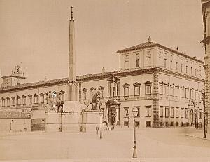 Quirinal Palace Place Roma Italy old Alinari Photo 1890