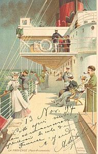 Gordon Bennett Return 1907 Le Havre Leblanc signed PC