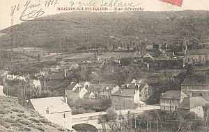 Landing Air Ship Bagnols Bains 1907 Leblanc signed PC