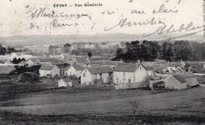 Landing Air Ship 1907 Episy Montargis Leblanc signed PC