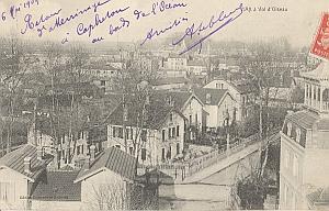 Landing Air Ship 1909 Cap Breton Dax Leblanc signed PC