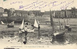 Landing Air Ship 1909 Arromanches Leblanc signed PC