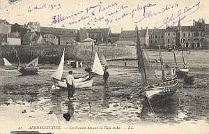 Landing Air Ship 1909 Arromanches Leblanc signed PC