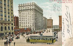 Gordon Bennett Cup 1907 St Louis USA Leblanc signed PC
