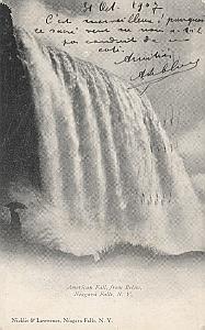 Gordon Bennett Cup 1907 Buffalo USA Leblanc signed PC