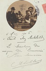 Landing Air Ship Limousin 1906 Creil Leblanc signed PC